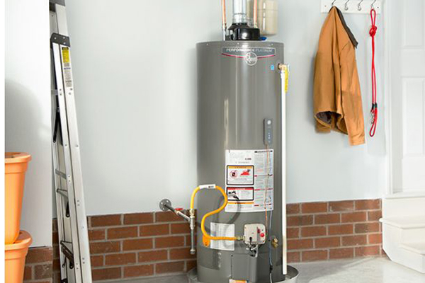 Image of a residential water heater